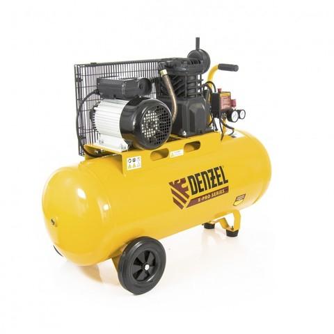 Компрессор воздушный PC 2/100-400, Х-Pro, ременный, 2.3 кВт, 400 л/мин, 100 л, 10 бар Denzel