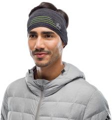 Повязка спортивная светоотражающая Buff Headband Dryflx Black - 2