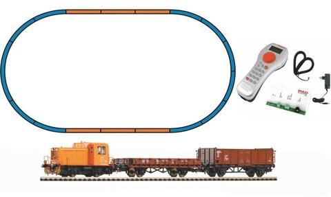Стартовый набор Тепловоз TGK2 + 2 грузовых вагона, DR, Ep.IV, цифровой, SmartControl light, рельсы на насыпи