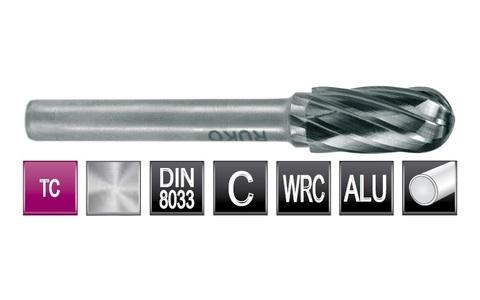 Бор-фреза твердосплавная C(WRC) 6,0х16х6х56мм HM ALU Ruko 116020A (В)