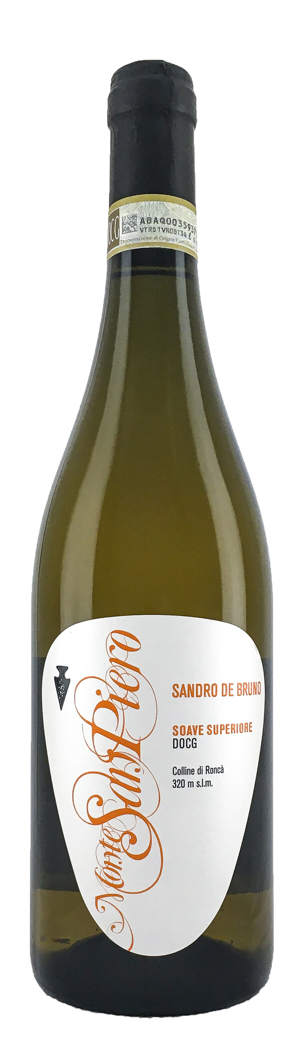 Вино Монте Сен Пьеро Соаве Супероире сухое белое, з.н.м.п. категория DOCG, регион Венето 0,75л.