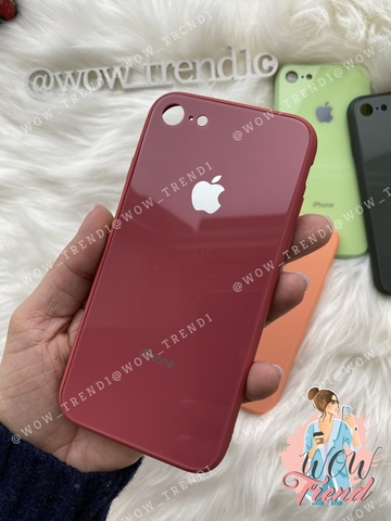 Чехол iPhone 7/8 Glass Pastel color Logo /camelia/