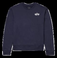 Свитшот Alpha Industries Small Logo Sweatshirt (синий)
