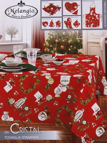 Скатерть круг Рождество