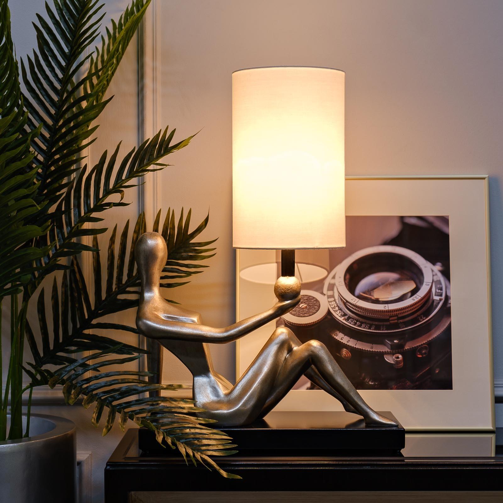 ART-4441-LM1 Лампа настольная плафон бежевый 46*25*66см, 220В