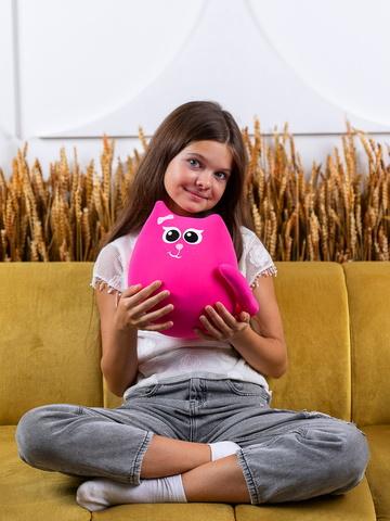 Мягкая игрушка-подушка Gekoko «Кошечка Мини Коралл» 4