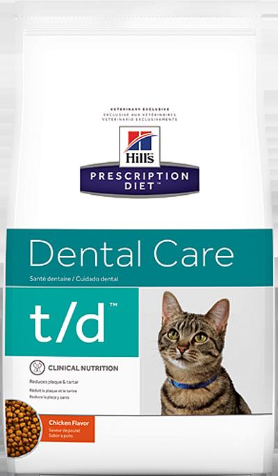 Сухой корм Ветеринарный корм для кошек Hill`s Prescription Diet t/d Dental Care, для здоровья зубов, с курицей тд.png