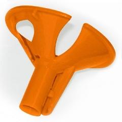 Зажим для шарика оранжевый (100 шт)