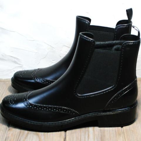 Резиновые ботинки челси женские черные. Стильные короткие сапоги резиновые женские утепленные W9072 Black