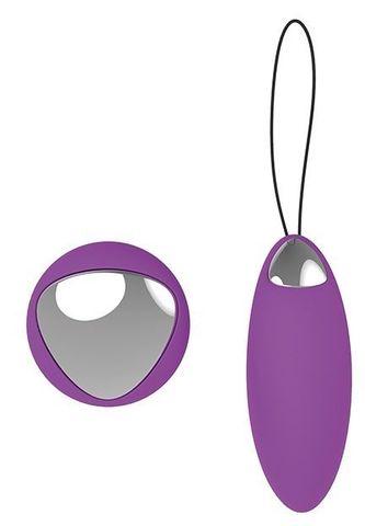 Фиолетовое перезаряжаемое виброяйцо Remote Duo Pleasure