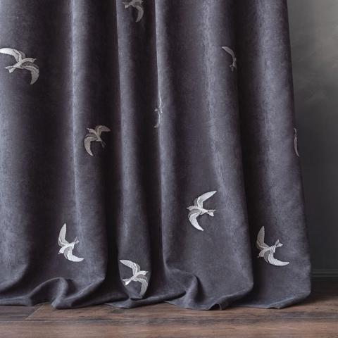 Комплект штор с подхватами Либретто темный серый