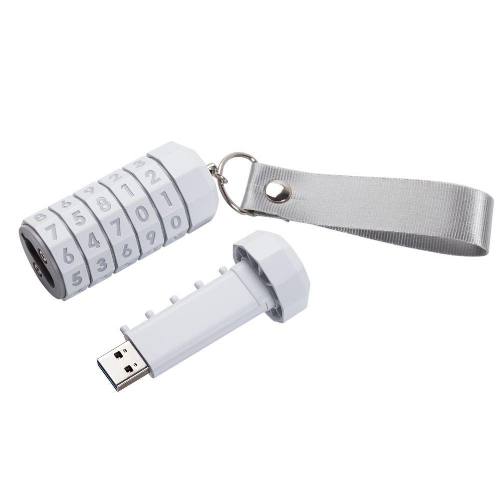 LokenToken dual USB flash drive, white