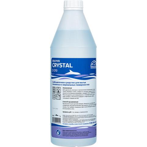Профессиональная химия Dolphin Crystal для стекл/зеркальн поверх 1л