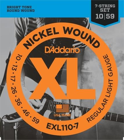 D`ADDARIO EXL110-7 NICKEL WOUND 7-STRING REGULAR LIGHT 10-59