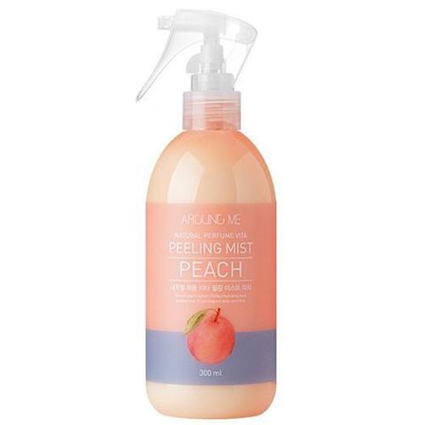 WELCOS Around Me Пилинг-мист для тела Around me Natural Perfume Vita Peeling Mist Peach, 300 мл