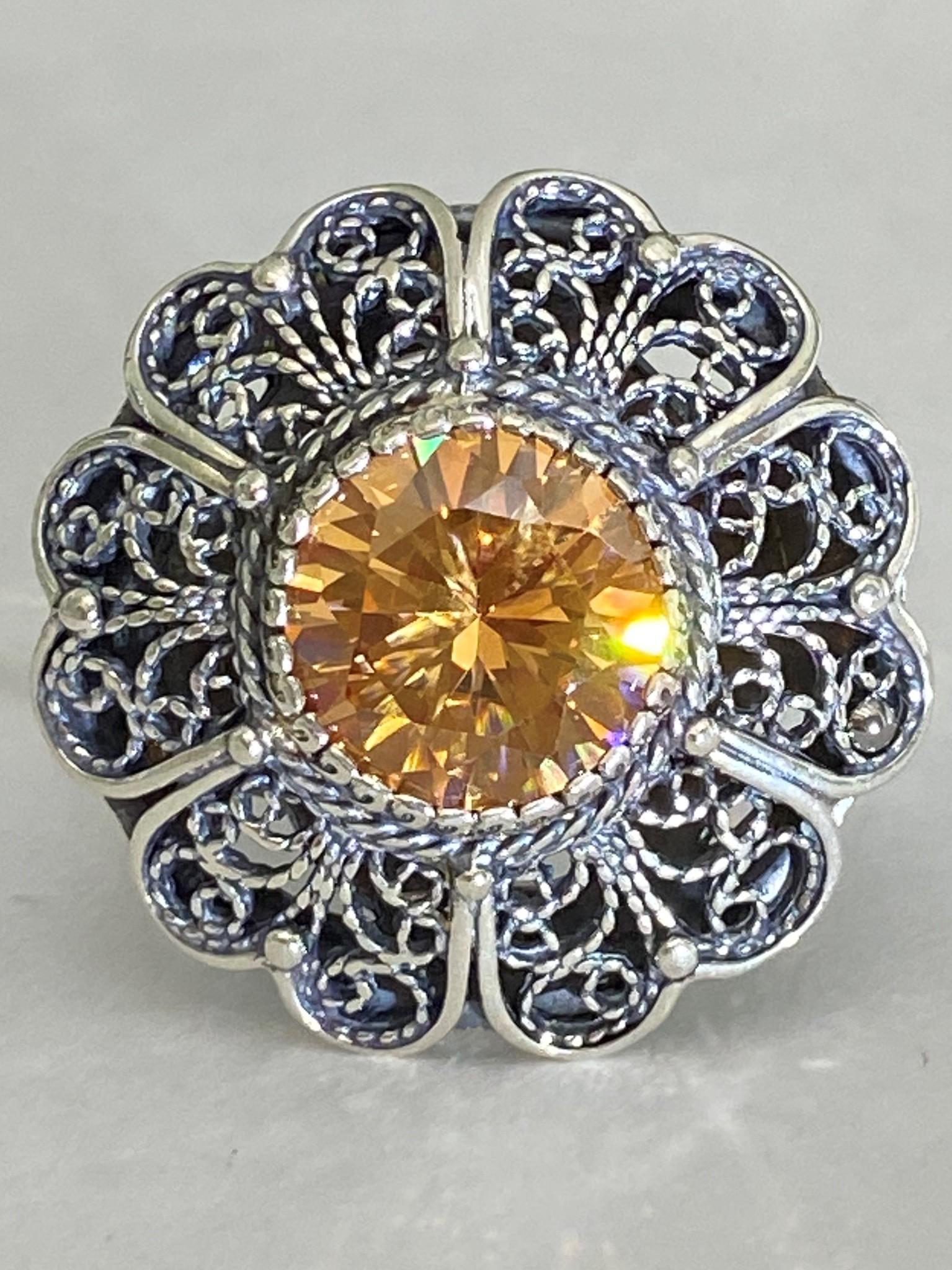 Цветок (кольцо из серебра)