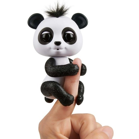 Фингерлингс черно-белая интерактивная панда Дрю