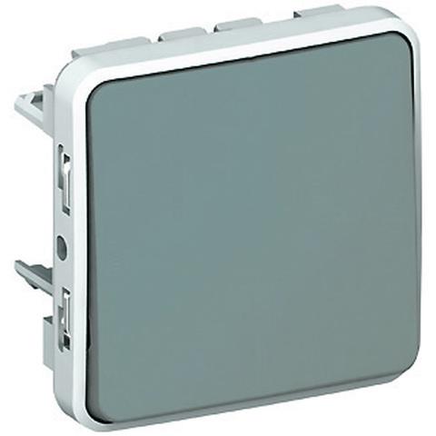 Выключатель одноклавишный проходной Однополюсный переключатель на два направления - 10 AX - 250 В~. Цвет Cерый. Legrand Plexo (Легранд Плексо). 069511