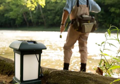Лампа противомоскитная ThermaCell Outdoor Lantern, на рыбалке 2.