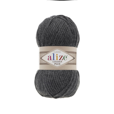 Пряжа Alize Lanagold Plus серый меланж 182