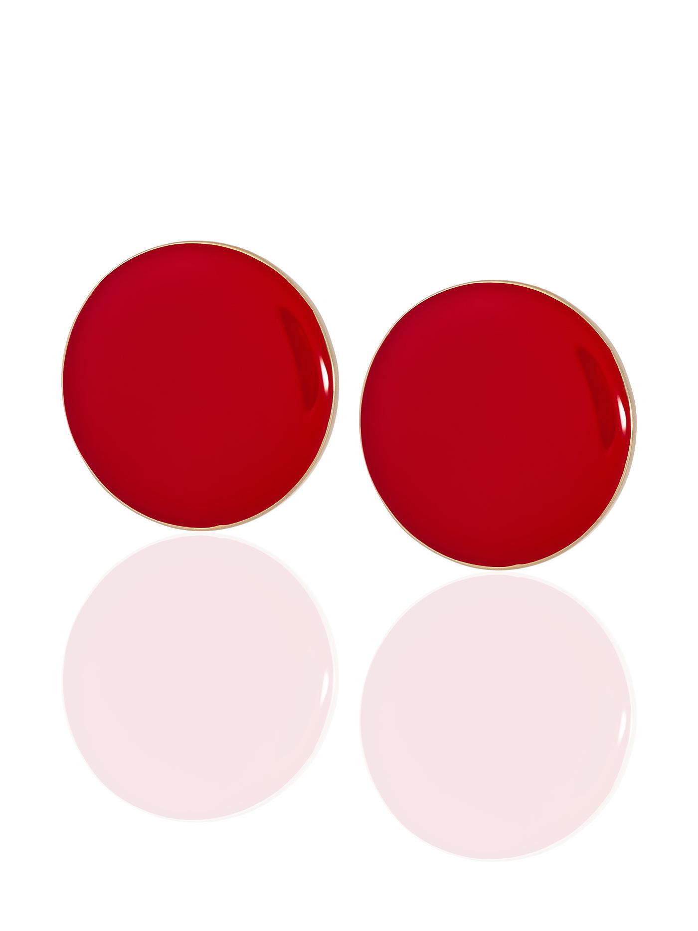 Серьги Красные круги