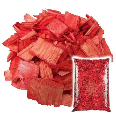 Декоративная щепа Красная 60л