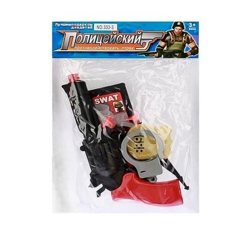 Набор полиции - Пистолет с присосками, удостоверением и аксессуарами в пак.,1кор*1бл*5шт
