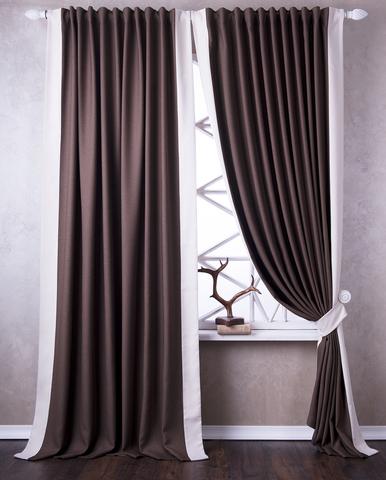 Комплект штор димаут Ноэль коричневый