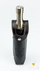 Фляга бутылка «СССР», в чёрном кожанном чехле, 800 мл, фото 2