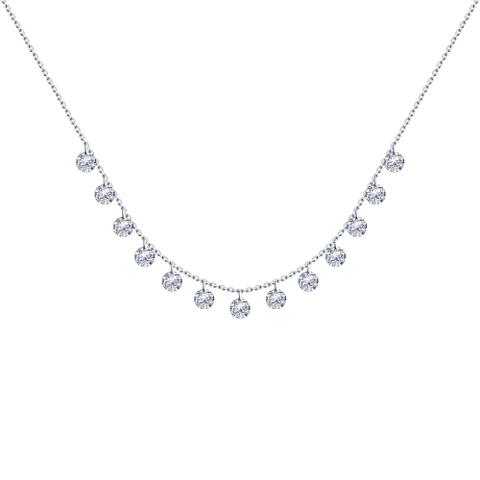 94070349- Колье из серебра с кристаллами SWAROVSKI от SOKOLOV