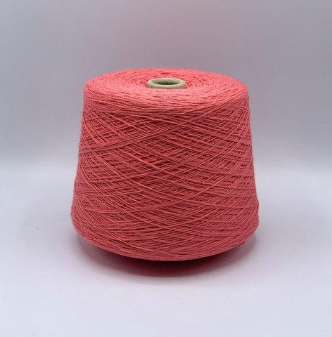 Filati Naturali  (пр.Италия),art-Fiammato 480 м/100гр,100%Хлопок , цвет-Розовый коралл . арт.11463