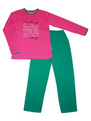 Детская хлопковая пижама для девочки