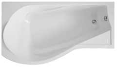 Ванна акриловая Bas Капри 170х94х59,5, угловая асимметричная (левая), с каркасом
