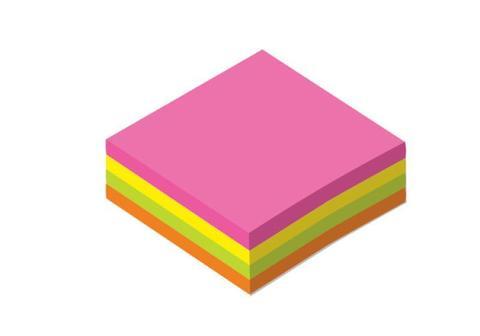 Листки для записей 80х80 мм (200 л.) цветные