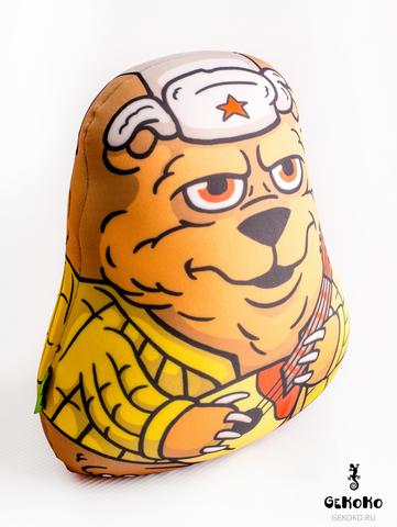 Подушка-игрушка антистресс Gekoko «Медведь с балалайкой» 4