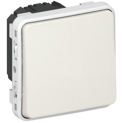 Выключатель одноклавишный проходной Однополюсный переключатель на два направления - 10 AX - 250 В~. Цвет Белый. Legrand Plexo (Легранд Плексо). 069611