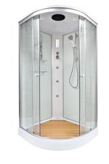 Душевая кабина DETO ЕМ1580 80х80 см с гидромассажем и электрикой