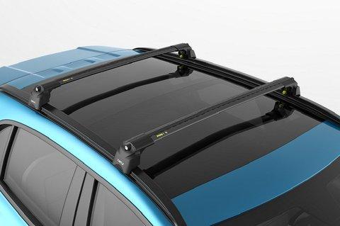 Багажник  Turtle Air 2 Black 106 см. на низкие рейлинги (чёрный цвет) .
