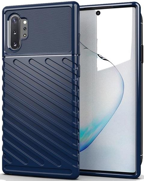 Чехол Samsung Galaxy Note 10+ цвет Blue (синий), серия Onyx, Caseport