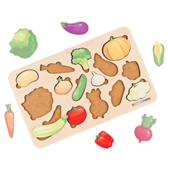Деревянные вкладыши Овощи, Raduga Kids, арт. RK1166