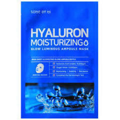 Тканевая маска для лица с Гиалуроноваой кислотой, SOME BY MI, Hyaluron Moisturizing Glow Luminous Ampoule Mask 25 гр