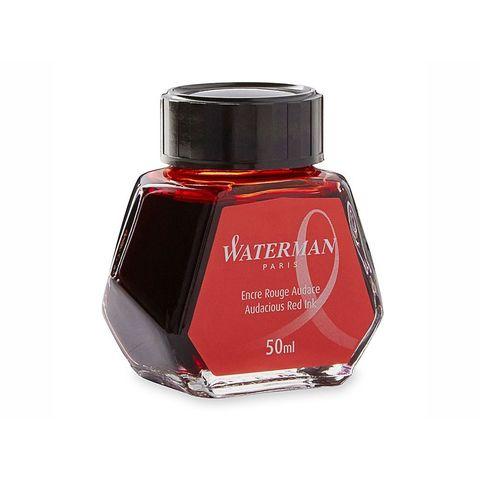 Чернила для перьевых ручек красные Waterman Ink Bottles Hexagonal