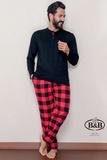 Мужской домашний костюм с клетчатыми брюками B&B