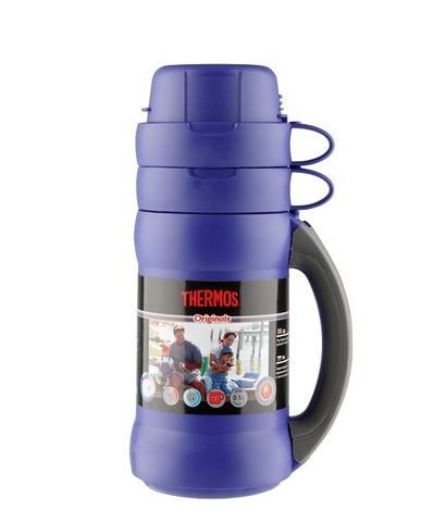 Термос Thermos 34 серия (0,5 литра) стеклянная колба, синий