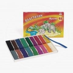 Пластилин классический Гамма Мультики 18 цветов 360 г со стеком