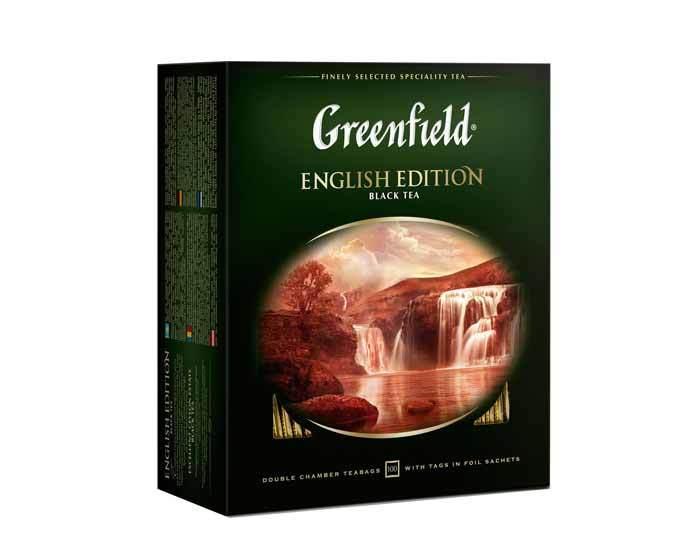 Чай черный в пакетиках Greenfield English Edition, 100 пак/уп