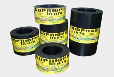Бордюрная лента 10см х 10м толщина 2 мм черная