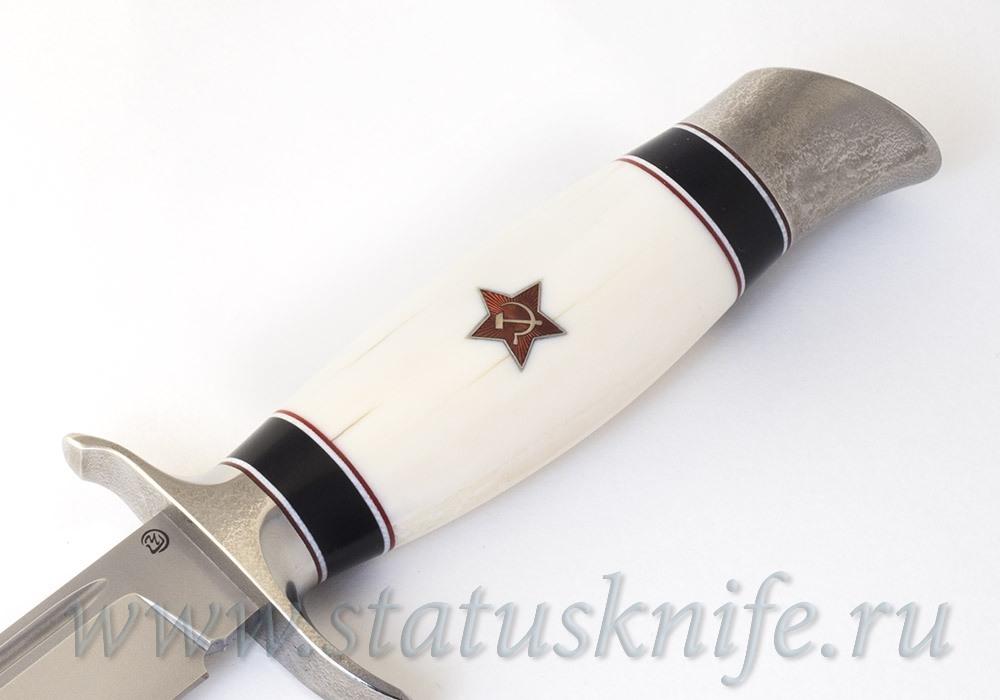 Нож Чебуркова Финка НКВД M390 Кость моржа - фотография