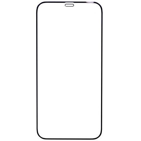 Защитное стекло для iPhone 12 и 12 Pro с черной рамкой 2,5D Full Glue
