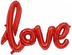 """Фигура  слово """"Love"""" красный цвет (воздух)"""